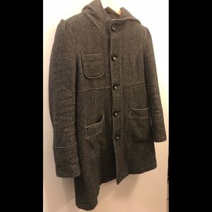 Spiewak Gray Button-Up Wool Coat